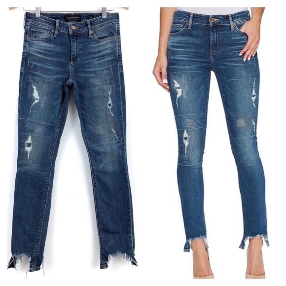 a548c657d38 Lucky Brand Denim - Lucky Brand Ava Skinny Shark Bite Hem Jeans Size 2